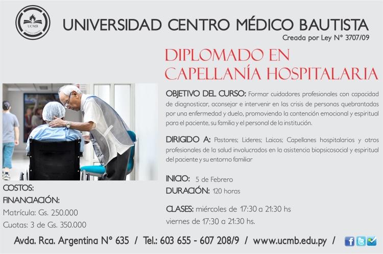 CURSO DE DIPLOMADO EN CAPELANIA HOSPITALAR